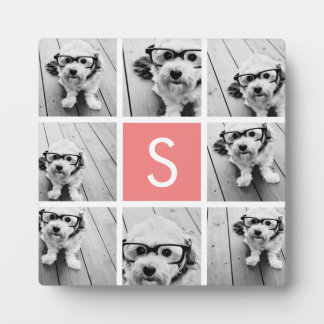 Create Your Own Instagram Collage Custom Monogram Plaque