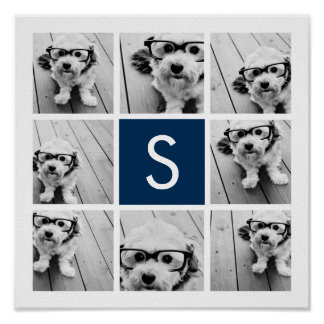 Create Your Own Instagram Collage Custom Monogram Poster