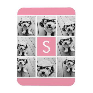 Create Your Own Instagram Collage Custom Monogram Vinyl Magnets
