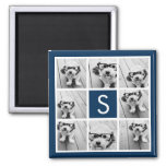 Create Your Own Instagram Collage Custom Monogram Square Magnet