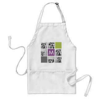 Create Your Own Instagram Collage Custom Monogram Standard Apron