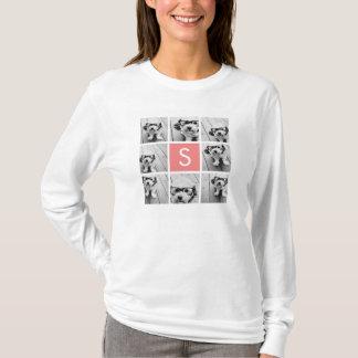 Create Your Own Instagram Collage Custom Monogram T-Shirt