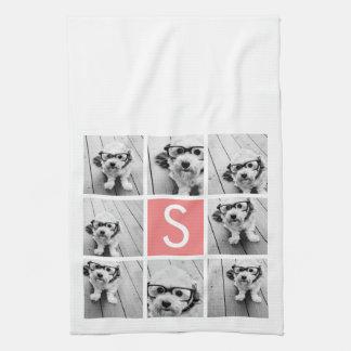 Create Your Own Instagram Collage Custom Monogram Tea Towel