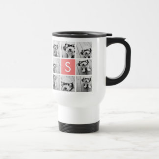 Create Your Own Instagram Collage Custom Monogram Travel Mug