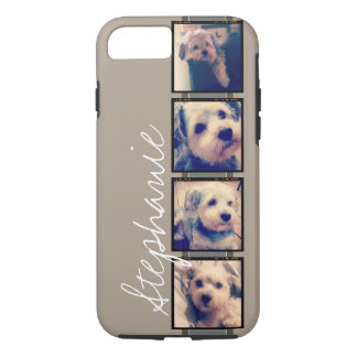 Create Your Own Instagram Collage - linen beige iPhone 8/7 Case