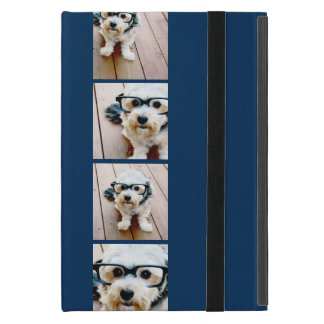 Create Your Own Instagram Collage Navy 4 Pictures Covers For iPad Mini