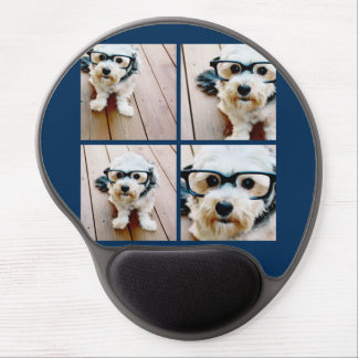 Create Your Own Instagram Collage Navy 4 Pictures Gel Mouse Mat