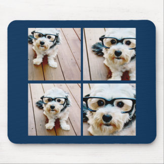 Create Your Own Instagram Collage Navy 4 Pictures Mouse Mat