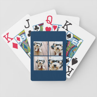 Create Your Own Instagram Collage Navy 4 Pictures Poker Deck