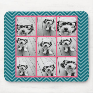Create Your Own Instagram Photo Collage 9 photos Mouse Pad