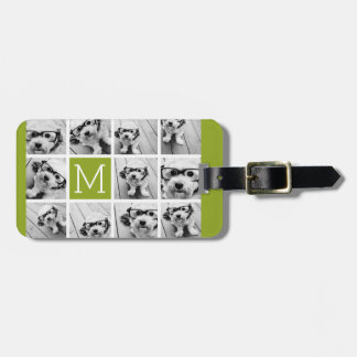 Create Your Own Instagram Photo Collage Lime Luggage Tag