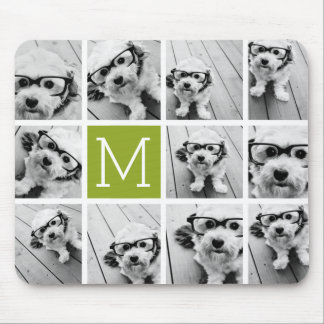 Create Your Own Instagram Photo Collage Lime Mouse Mat