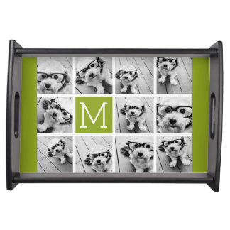 Create Your Own Instagram Photo Collage Lime Serving Tray