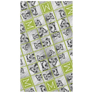 Create Your Own Instagram Photo Collage Lime Tablecloth