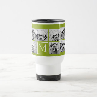 Create Your Own Instagram Photo Collage Lime Travel Mug