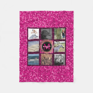 Create Your Own | Instagram Photo Collage Name Fleece Blanket