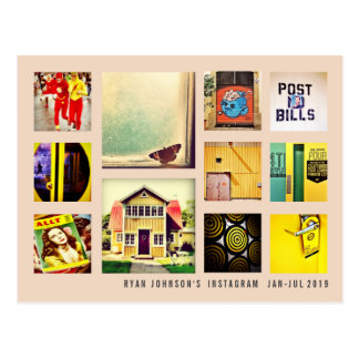Create Your Own Instagram Photo Collage Postcard