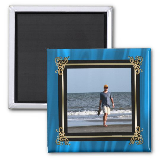 Create Your Own Instagram Photo Elegant Blue Satin