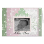 Create your own Irish Baby Announcements Greeting Card