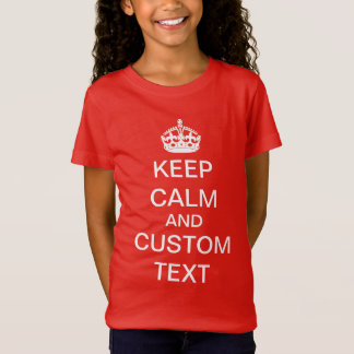 Create Your Own Keep Calm and Carry On Custom Shirts