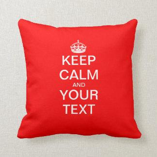 """Create Your Own """"KEEP CALM & CARRY ON""""! Cushion"""