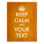 """Create your own """"Keep Calm & Carry On"""" (gold foil)"""