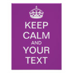 """Create Your Own """"Keep Calm & Carry On"""" Poster!"""