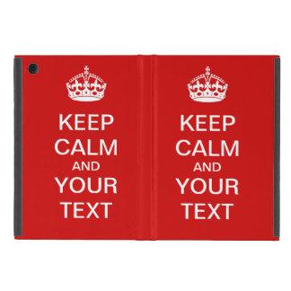 "Create Your Own ""KEEP CALM"" iPad Case!"