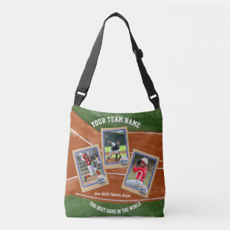 Create Your Own Kids Baseball Card Sports Collage Crossbody Bag