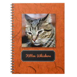 Create Your Own Kitten Whiskers Photo Notebook