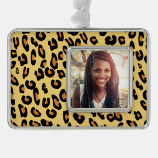 Create Your Own Leopard Skin Pattern Silver Plated Framed Ornament