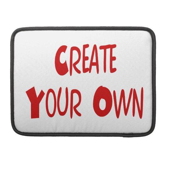 Create your own MacBook sleeve