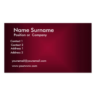 Create your own Maroon Business Card