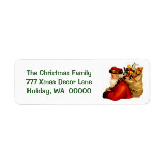 Create Your Own Merry Christmas Label Stickers Return Address Label