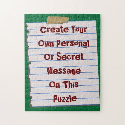 Create Your Own Message Puzzle