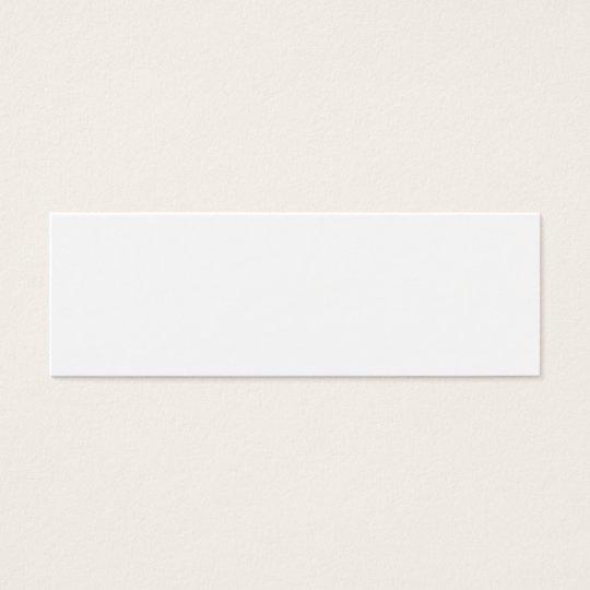 Create your own mini bookmark mini business card