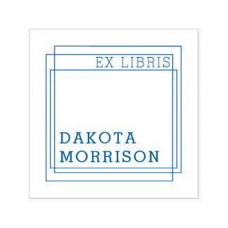 Create Your Own Modern Geometric Ex Libris Name Self-inking Stamp
