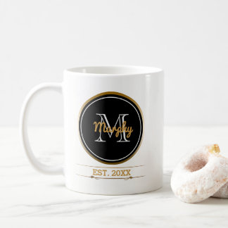 Create Your Own Monogram | Family Established Year Coffee Mug