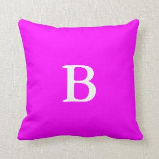 Create Your Own Monogram Magenta Throw Pillow