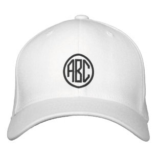 Create Your Own Monogram Text Baseball Cap 6a50b32957ad