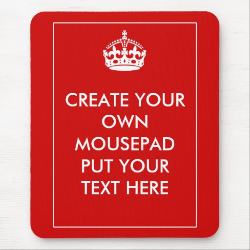 create your own mouse pad zazzle. Black Bedroom Furniture Sets. Home Design Ideas