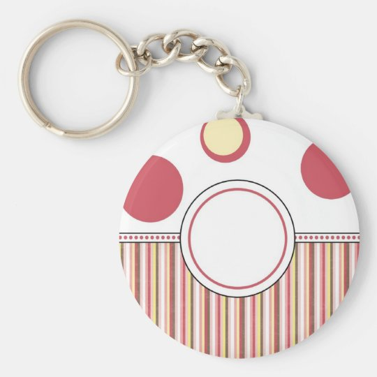 CREATE YOUR OWN NAME / INITIALS BASIC ROUND BUTTON KEY RING