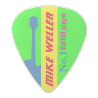 create your own neon colors acetal guitar pick