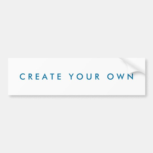 Create Your Own One of a Kind Bumper