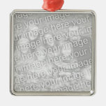 Create Your Own One-Sided Square Photo Keepsake Silver-Colored Square Decoration