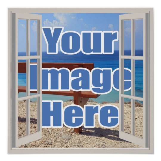 Create your own open window personalised poster