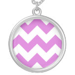 Create Your Own Orchid Zigzag Pattern Custom Necklace