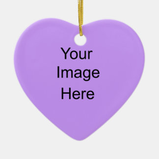 Create your own Ornament Light Lavender Heart