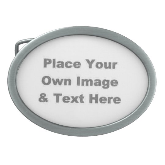 Create Your Own Oval Belt Buckle