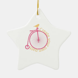 Create Your Own Path Double-Sided Star Ceramic Christmas Ornament